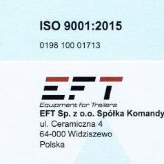 certyfikat ISO skrzynie narzędziowe polski producent